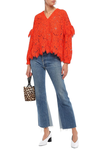 Jerome ruffled corded lace blouse
